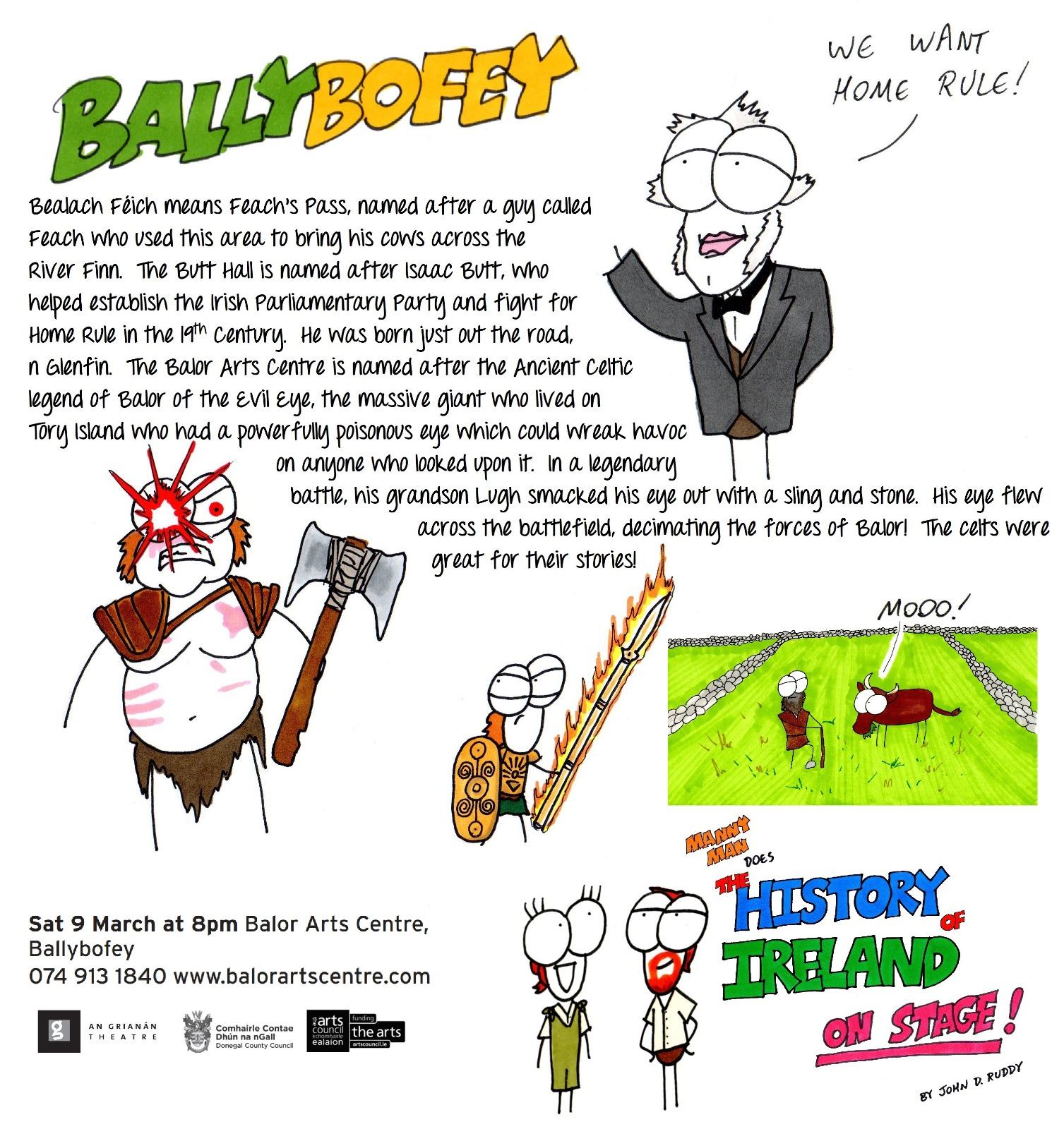 Balor Arts Centre, Ballybofey, Sat 9 March