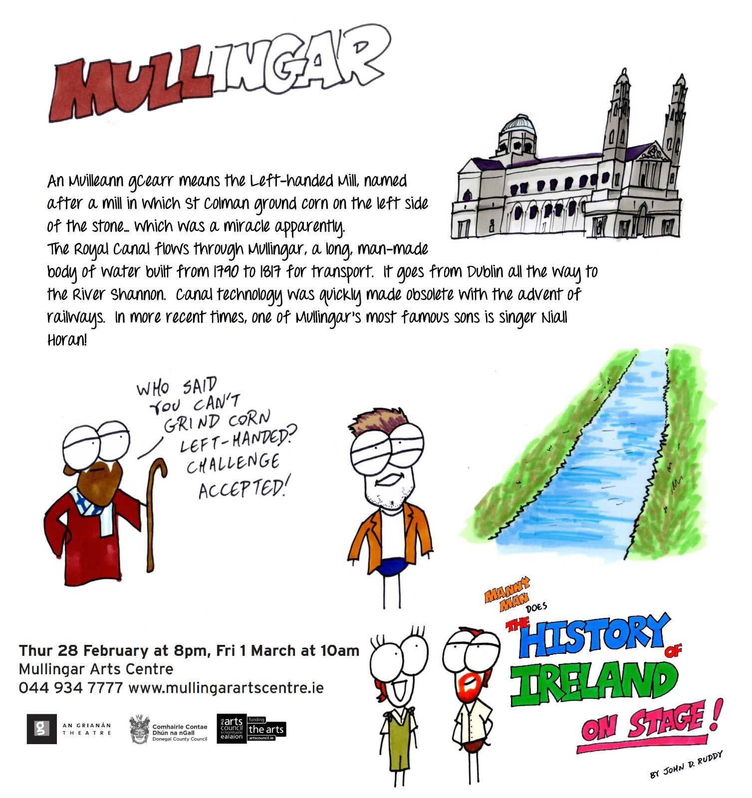 Mullingar Arts Centre, Thu 28 Feb & Sat 1 March