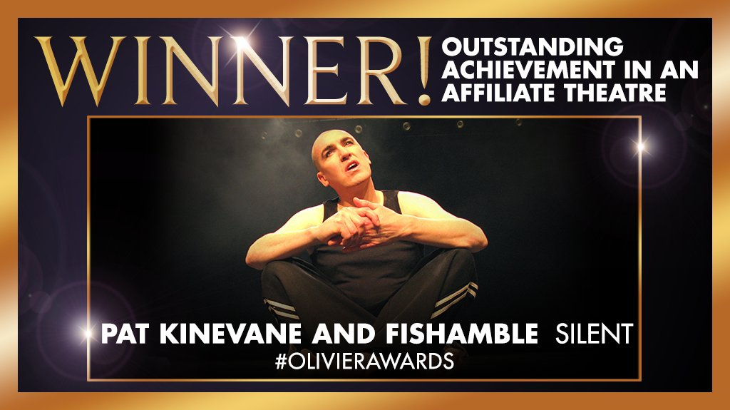 Fishamble The New Play Company and Pat Kinevane, Olivier Award winner for Silent 2016.