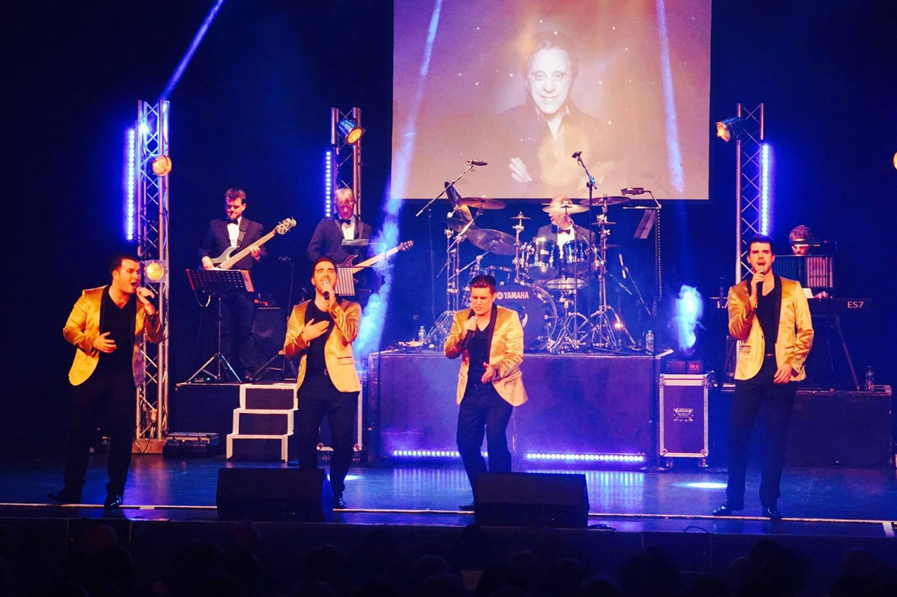 Frankie's Guys. Oh What A Night: A Celebration of Frankie Valli and The Four Seasons. An Grianan Theatre October 2018