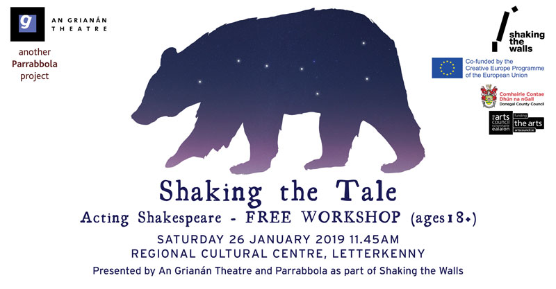 Acting Shakespeare with Philip Parr - workshop for Shaking the Tale