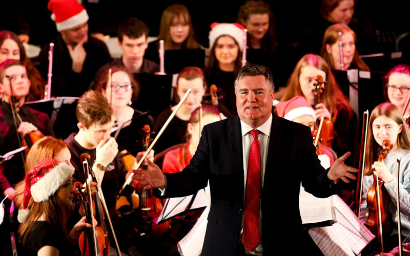 Donegal Youth Orchestra with conductor Vincent Kennedy