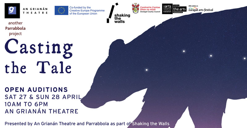 Open auditions for Shaking the Tale: April 2019
