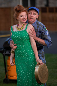 Margaret McAuliffe, Peter Corboy in Rough Magic's Much Ado About Nothing. Photo: John Kelly