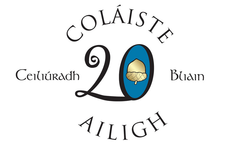 Colaiste Ailigh 20th anniversary logo