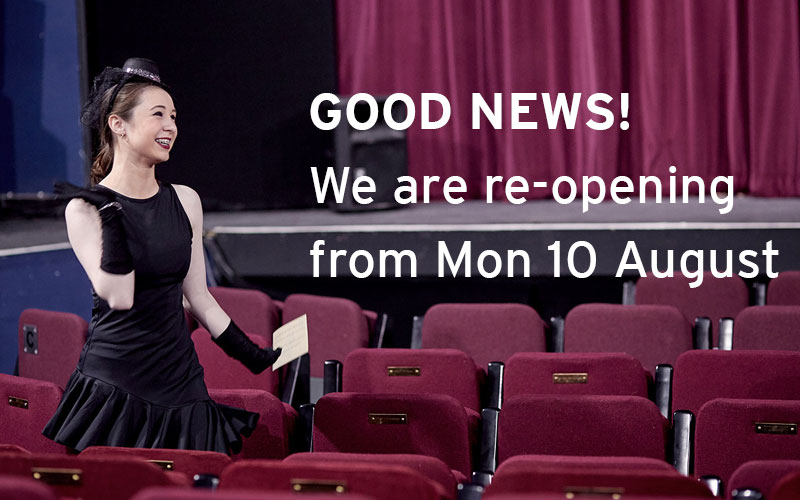 Good news! We are re-opening from Mon 10 August.
