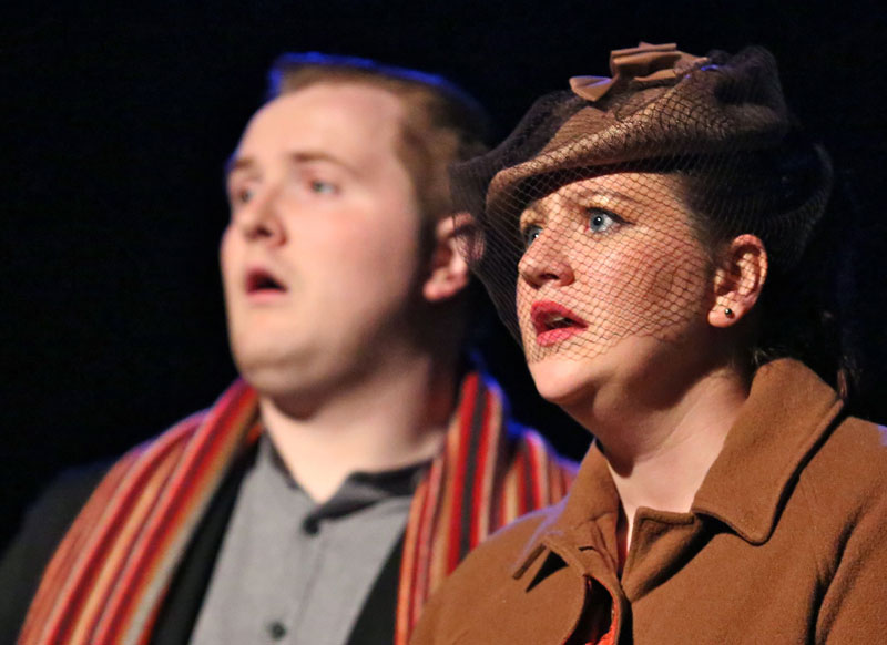 John D Ruddy and Louise Conaghan in I Would Walk These Fields by An Grianán Theatre Productions