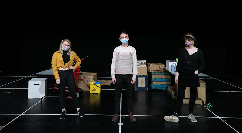 Above: Patrick Quinn's play Revved will be one of first projects to use our newly purchased touring equipment thanks to generous funding from the Leader project.