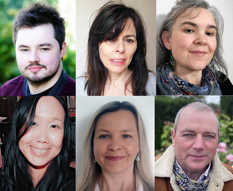 Clockwise from top: Andrew Tinney, Anne Gallagher, Michelle Dennehy, Eve Li, Peggie Caldwell, Seamus McDermott