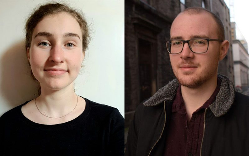Lasta Young Curators Ailis Cross Gorman and Fergal Lonergan.