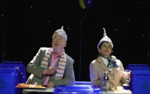 Ronan Carr and Anne Gallagher in Blue Roses, part of An Grianán Theatre's Little Acorns project.