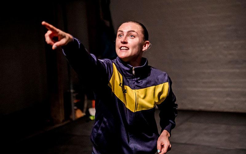 Image: dance Oona Doherty performing in her award winning dance work Hope Hunt.