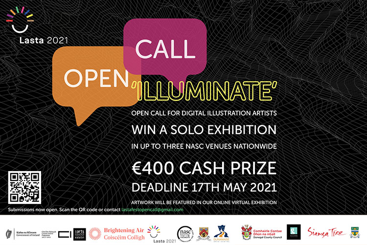 Open call for entries for our Illuminate exhibition for digital artists and illustrators