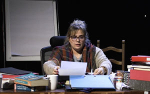 Laura Douglas in Andrew Tinney's The Author, a short play commissioned by An Grianán Theatre as part of their Little Acorns project