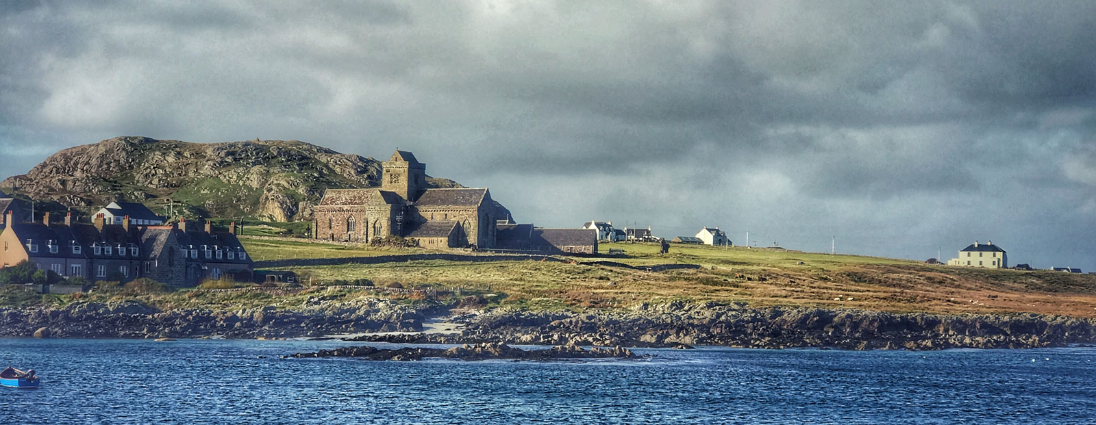 A Picture of Iona and Colmcille's monastery