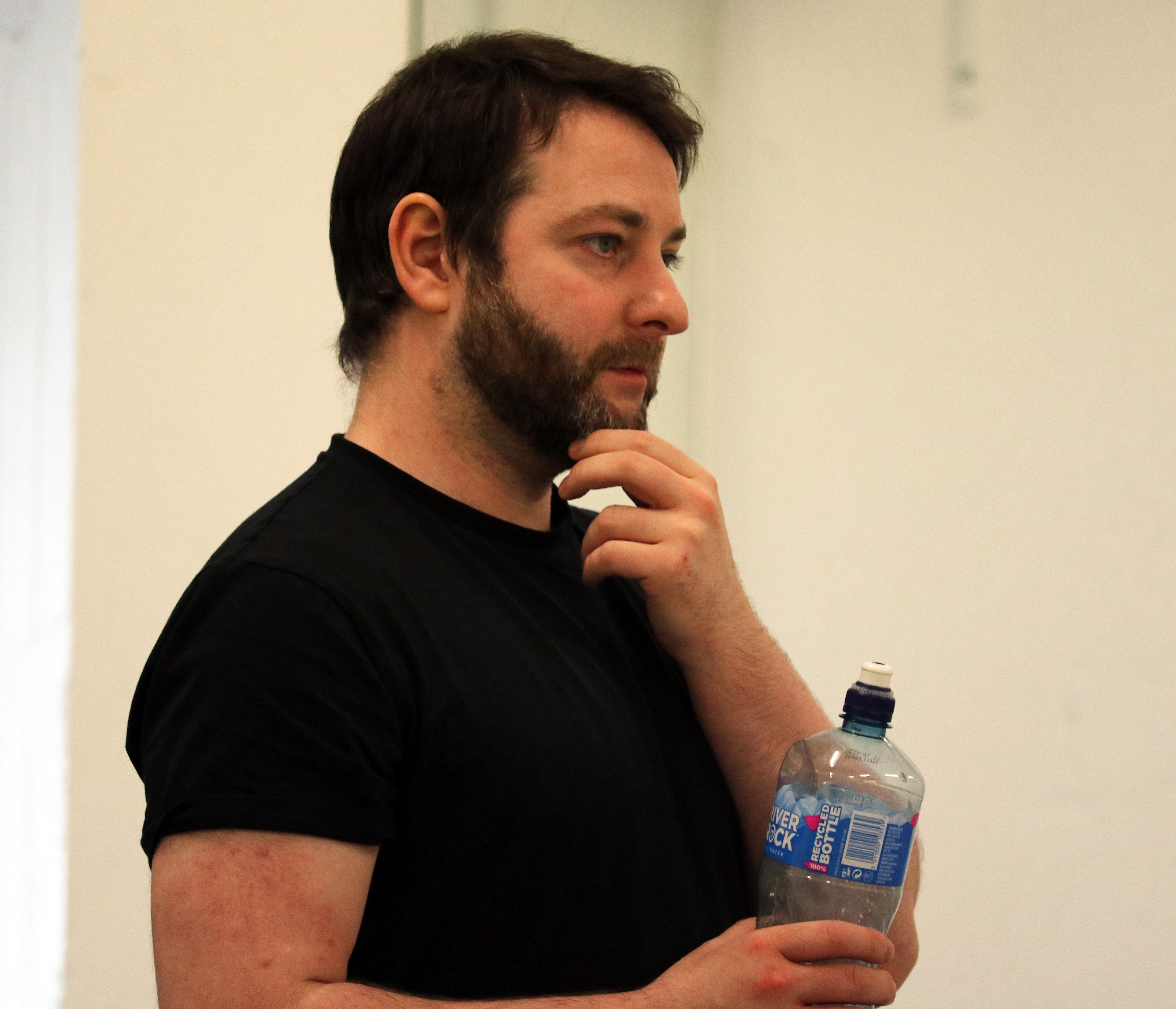 Patrick McBrearty looking thoughtful in rehearsals for Dramacast