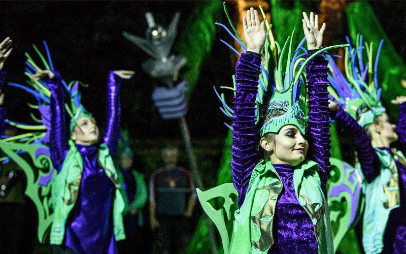 Inishowen Carnival present The Alchemist in Letterkenny Town Park, Culture Night 2021.